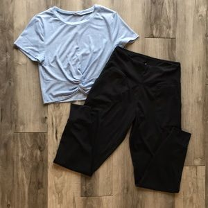 NWOT Athleisure Bundle Medium Cropped T-shirt and High Rise Joggers